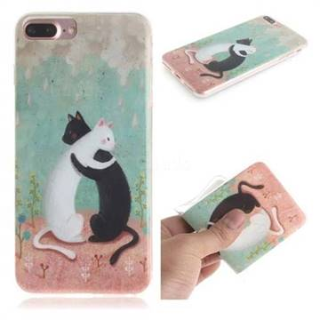 Black and White Cat IMD Soft TPU Cell Phone Back Cover for iPhone 6s Plus / 6 Plus 6P(5.5 inch)