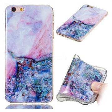 Purple Amber Soft TPU Marble Pattern Phone Case for iPhone 6s Plus / 6 Plus 6P(5.5 inch)