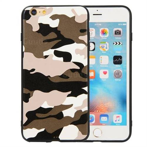 aa972a3553 Camouflage Soft TPU Back Cover for iPhone 6s Plus / 6 Plus 6P(5.5 inch) -  Black White - TPU Case - Guuds