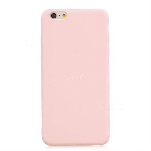 best service cb13f ce7d0 Candy Soft Silicone Protective Phone Case for iPhone 6s Plus / 6 Plus  6P(5.5 inch) - Light Pink