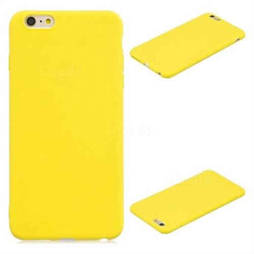 hot sales afee9 2415e Candy Soft Silicone Protective Phone Case for iPhone 6s Plus / 6 Plus  6P(5.5 inch) - Yellow