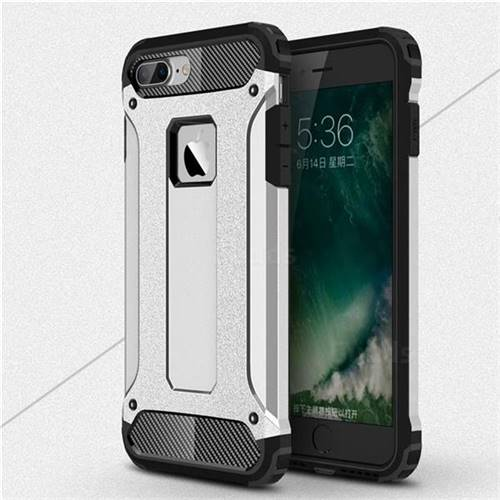 King Kong Armor Premium Shockproof Dual Layer Rugged Hard Cover for iPhone 6s Plus / 6 Plus 6P(5.5 inch) - Technology Silver