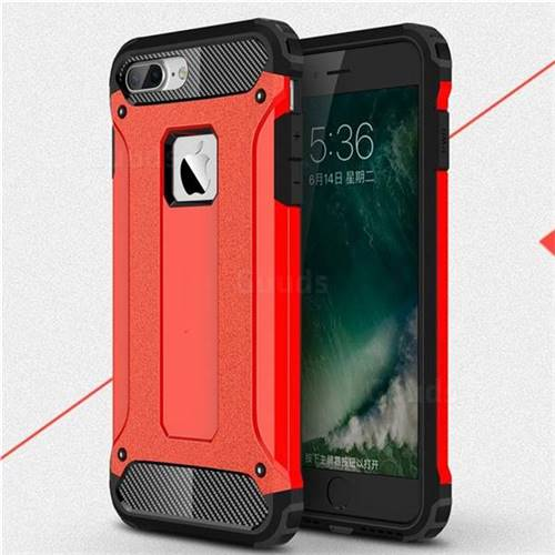 King Kong Armor Premium Shockproof Dual Layer Rugged Hard Cover for iPhone 6s Plus / 6 Plus 6P(5.5 inch) - Big Red