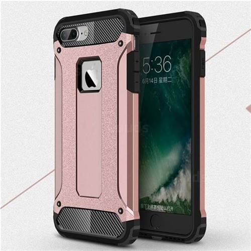 King Kong Armor Premium Shockproof Dual Layer Rugged Hard Cover for iPhone 6s Plus / 6 Plus 6P(5.5 inch) - Rose Gold