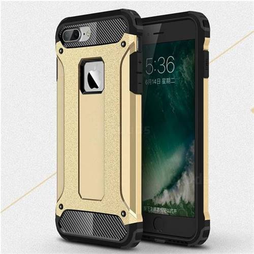 King Kong Armor Premium Shockproof Dual Layer Rugged Hard Cover for iPhone 6s Plus / 6 Plus 6P(5.5 inch) - Champagne Gold