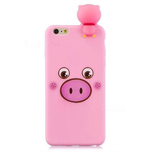 best sneakers caa32 de16a Small Pink Pig Soft 3D Climbing Doll Soft Case for iPhone 6s Plus / 6 Plus  6P(5.5 inch)