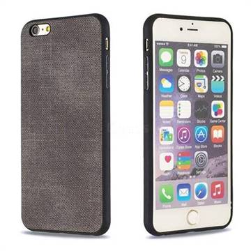 best sneakers 15d70 aba2b Canvas Cloth Coated Soft Phone Cover for iPhone 6s Plus / 6 Plus 6P(5.5  inch) - Dark Gray
