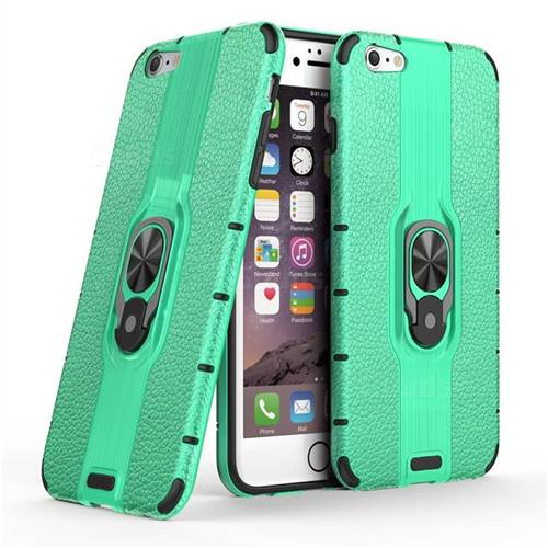 Alita Battle Angel Armor Metal Ring Grip Shockproof Dual Layer Rugged Hard Cover for iPhone 6s Plus / 6 Plus 6P(5.5 inch) - Green