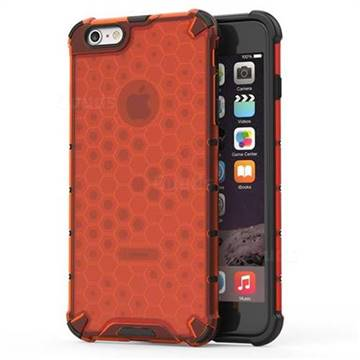 Honeycomb TPU + PC Hybrid Armor Shockproof Case Cover for iPhone 6s Plus / 6 Plus 6P(5.5 inch) - Red