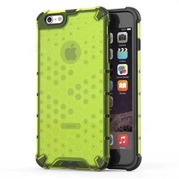 Honeycomb TPU + PC Hybrid Armor Shockproof Case Cover for iPhone 6s Plus / 6 Plus 6P(5.5 inch) - Green