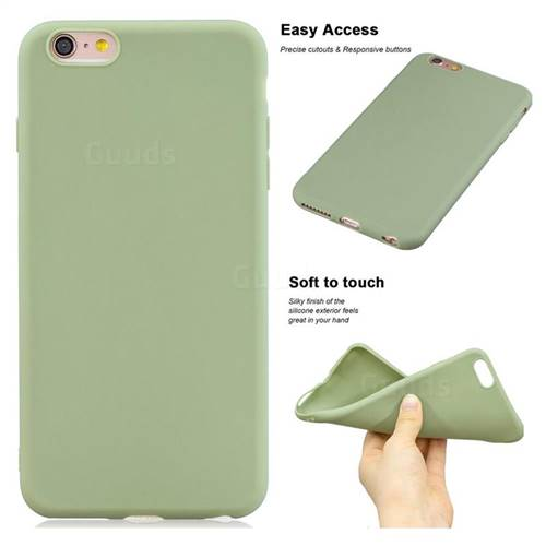 Soft Matte Silicone Phone Cover for iPhone 6s Plus / 6 Plus 6P(5.5 inch) - Bean Green