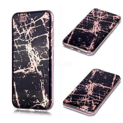 Black Galvanized Rose Gold Marble Phone Back Cover for iPhone 6s Plus / 6 Plus 6P(5.5 inch)