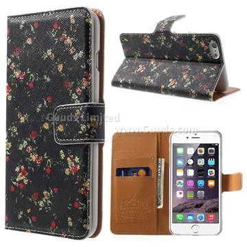 check out c2193 239d6 Cross Pattern Garden Floral Leather Wallet Case for iPhone 6 Plus (5.5  inch) - - Guuds