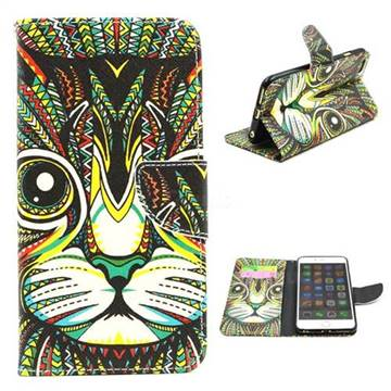 Cat Leather Wallet Case for iPhone 6 Plus (5.5 inch)
