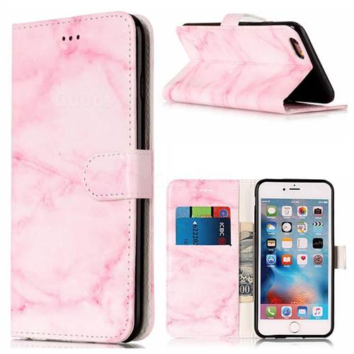Pink Marble PU Leather Wallet Case for iPhone 6s Plus 6 Plus(5.5 inch)