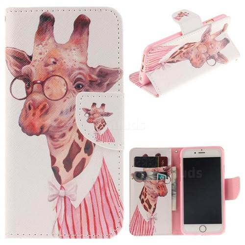 Pink Giraffe PU Leather Wallet Case for iPhone 6s Plus / 6 Plus 6P(5.5 inch)