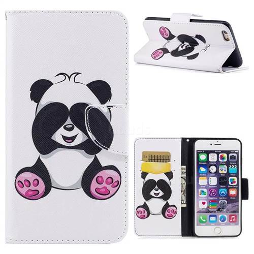 official photos 1375d 6f812 Lovely Panda Leather Wallet Case for iPhone 6s Plus / 6 Plus 6P(5.5 inch)