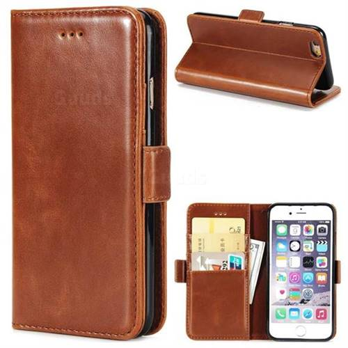 Luxury Crazy Horse PU Leather Wallet Case for iPhone 6s Plus / 6 Plus 6P(5.5 inch) - Brown