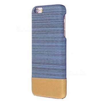 Canvas Cloth Coated Plastic Back Cover for iPhone 6s Plus / 6 Plus 6P(5.5 inch) - Light Blue
