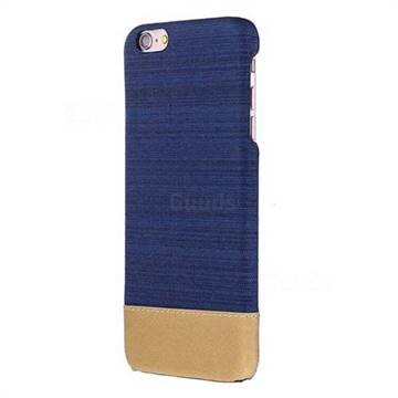 Canvas Cloth Coated Plastic Back Cover for iPhone 6s Plus / 6 Plus 6P(5.5 inch) - Dark Blue