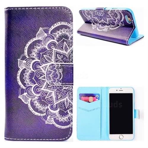 Half Lace Mandala Flower Stand Leather Wallet Case for iPhone 6s Plus / 6 Plus 6P(5.5 inch)