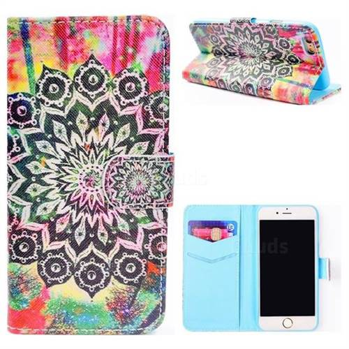 Colorful Mandala Flower Stand Leather Wallet Case for iPhone 6s Plus / 6 Plus 6P(5.5 inch)
