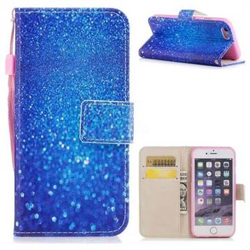 Blue Powder PU Leather Wallet Case for iPhone 6s Plus / 6 Plus 6P(5.5 inch)
