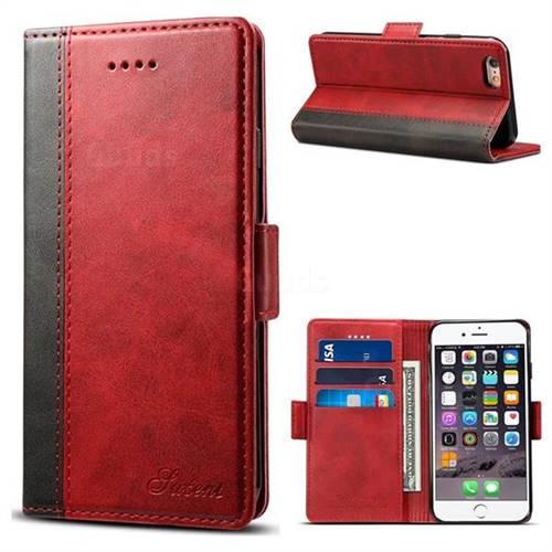 iphone 6plus flip case red