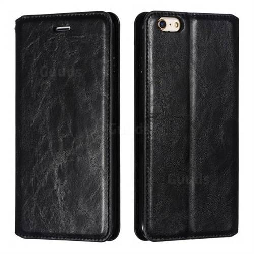 Retro Slim Magnetic Crazy Horse PU Leather Wallet Case for iPhone 6s Plus / 6 Plus 6P(5.5 inch) - Black