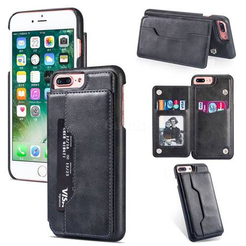 Luxury Magnetic Double Buckle Leather Phone Case for iPhone 6s Plus / 6 Plus 6P(5.5 inch) - Black