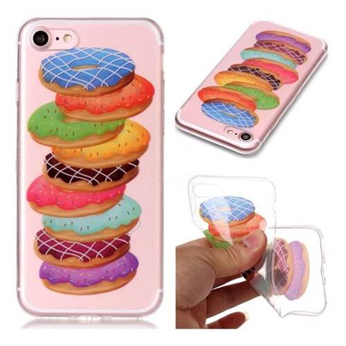 Melaleuca Donuts Super Clear Soft TPU Back Cover for iPhone 8 / 7 (4.7 inch)