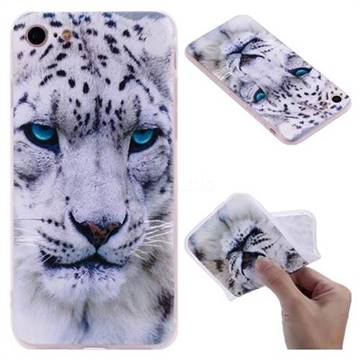White Leopard 3D Relief Matte Soft TPU Back Cover for iPhone 8 / 7 (4.7 inch)