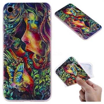 Butterfly Kiss 3D Relief Matte Soft TPU Back Cover for iPhone 8 / 7 (4.7 inch)