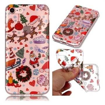 Christmas Playground Super Clear Soft TPU Back Cover for iPhone 8 / 7 (4.7 inch)
