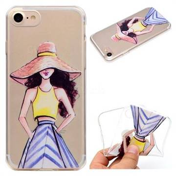 Summer Girl Super Clear Soft TPU Back Cover for iPhone 8 / 7 (4.7 inch)