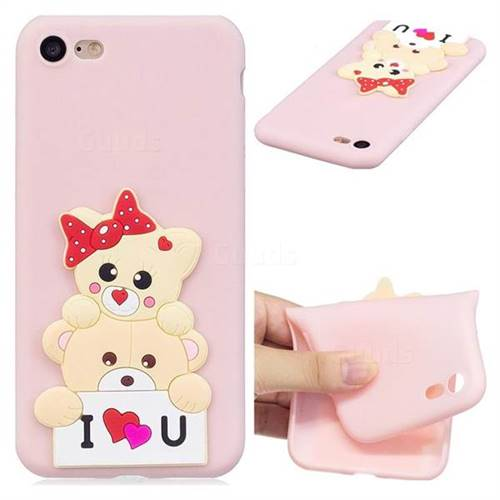 Love Bear Soft 3D Silicone Case for iPhone 8 / 7 (4.7 inch)