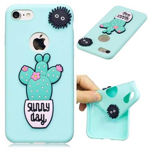 Cactus Flower Soft 3D Silicone Case for iPhone 8 / 7 (4.7 inch)