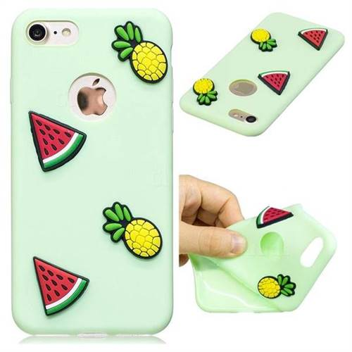 Watermelon Pineapple Soft 3D Silicone Case for iPhone 8 / 7 (4.7 inch)