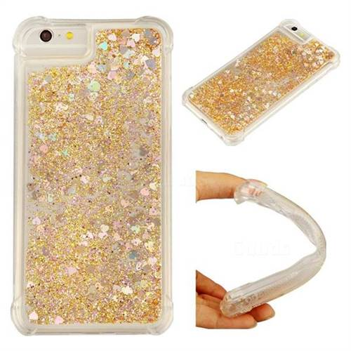 Dynamic Liquid Glitter Sand Quicksand Star TPU Case for iPhone 8 / 7 (4.7 inch) - Diamond Gold