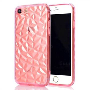 Diamond Pattern Shining Soft TPU Phone Back Cover for iPhone 8 / 7 (4.7 inch) - Pink