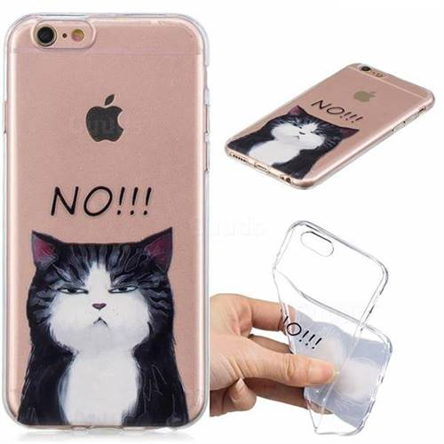 No Cat Clear Varnish Soft Phone Back Cover for iPhone 8 / 7 (4.7 inch)