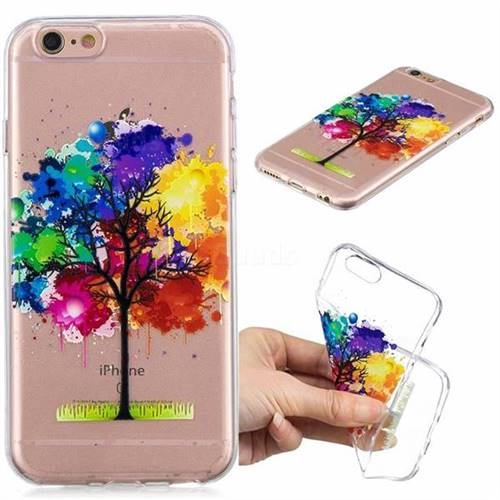Oil Painting Tree Clear Varnish Soft Phone Back Cover for iPhone 8 / 7 (4.7 inch)