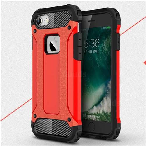 King Kong Armor Premium Shockproof Dual Layer Rugged Hard Cover for iPhone 8 / 7 (4.7 inch) - Big Red