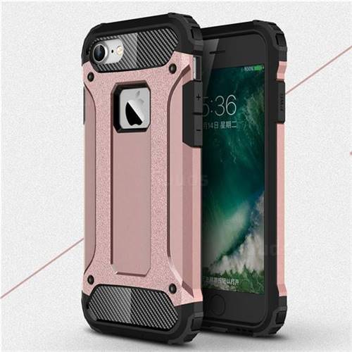 King Kong Armor Premium Shockproof Dual Layer Rugged Hard Cover for iPhone 8 / 7 (4.7 inch) - Rose Gold