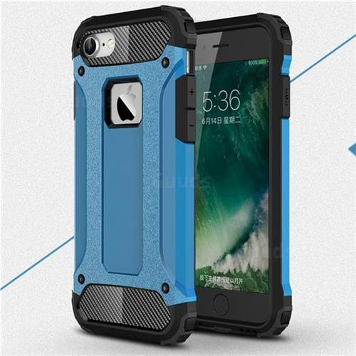 King Kong Armor Premium Shockproof Dual Layer Rugged Hard Cover for iPhone 8 / 7 (4.7 inch) - Sky Blue