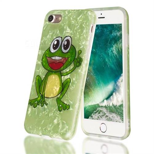 Smile Frog Shell Pattern Clear Bumper Glossy Rubber Silicone Phone Case for iPhone 8 / 7 (4.7 inch)