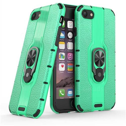 Alita Battle Angel Armor Metal Ring Grip Shockproof Dual Layer Rugged Hard Cover for iPhone 8 / 7 (4.7 inch) - Green