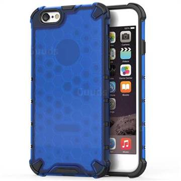 Honeycomb TPU + PC Hybrid Armor Shockproof Case Cover for iPhone 8 / 7 (4.7 inch) - Blue