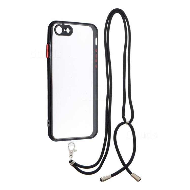 Necklace Cross-body Lanyard Strap Cord Phone Case Cover for iPhone 8 / 7 (4.7 inch) - Black