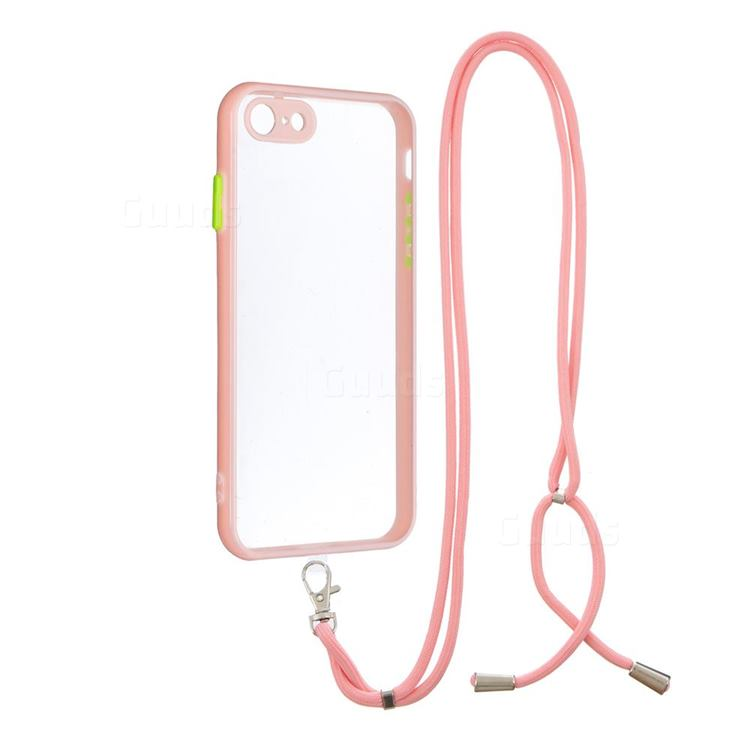 Necklace Cross-body Lanyard Strap Cord Phone Case Cover for iPhone 8 / 7 (4.7 inch) - Pink